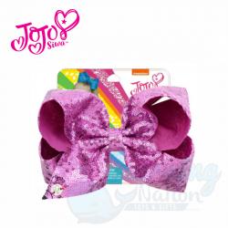 JoJo Bow Shiny Pink Glitter