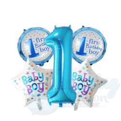 First Birthday Boy Foil...