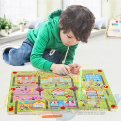 Wooden Magnetic Maze Game