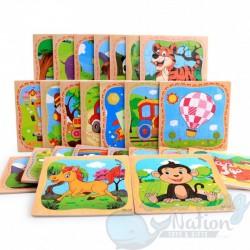 Wooden Puzzles 16pcs