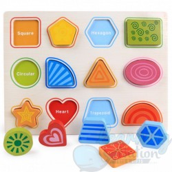 Wooden Shape Learning Board