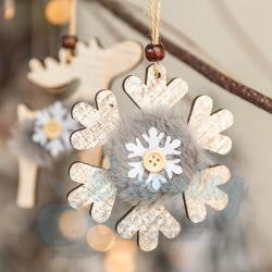 10CM Wooden Decor - Snowflake
