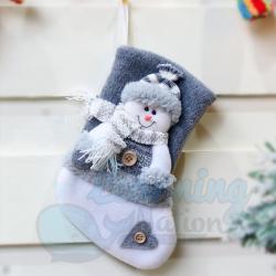 Grey Stockings - Snowman
