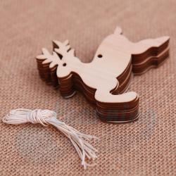 10 Pieces Wooden Reindeer