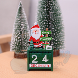 Santa Calendar Ornament