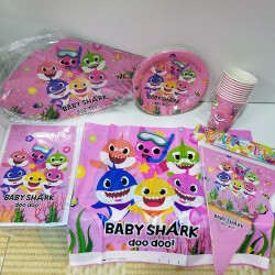 Pink Baby Shark Party Set