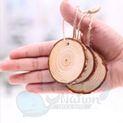 10 Pcs Blank Wooden Decor
