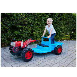 Large Blue Drivable Tractor