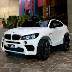 White Beemer Drivable Car
