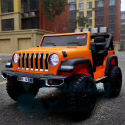 XL Large Orange Drivable Jeep