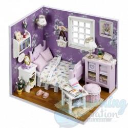 DIY House Purple Flowers Room