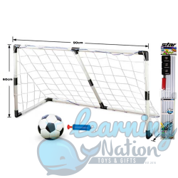Soccer Goal Post with ball