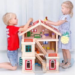 Large Solid Wood Doll House