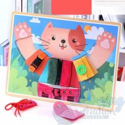 Wooden Cat Practical Set