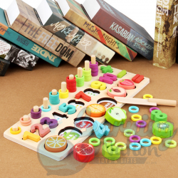 Wooden Fruit Counting Stand