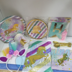 Golden Unicorn Party Set