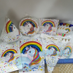 Rainbow Unicorn Party Set