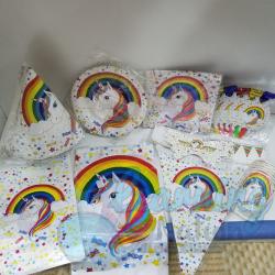 Rainbow Unicorn Party Set