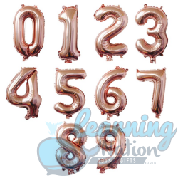 Number Foil Balloons - Rose...
