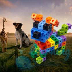 Square Cube Building Blocks