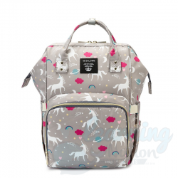 Mommy Bag Grey Unicorn